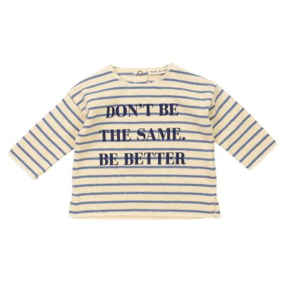 Baby Sweater Blue Striped by Babe & Tess