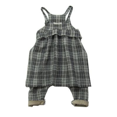Baby Woolen Overall Oda Checked-3M