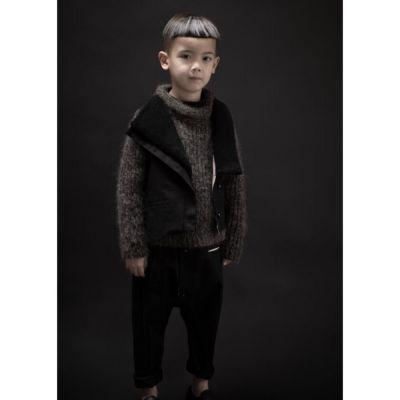 Woolen Pullover Loroni Mud Marl by Anja Schwerbrock