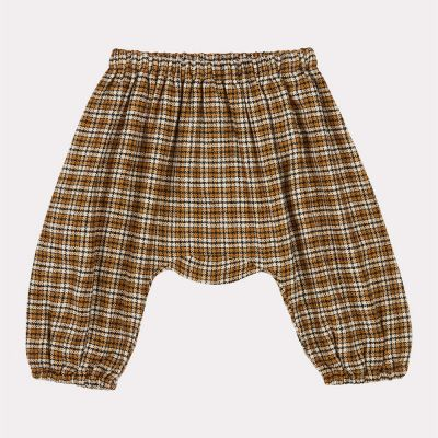 Baby Trousers Woodpigeon Yellow Check-3M