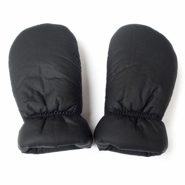 Soft Coated Baby Mittens Black