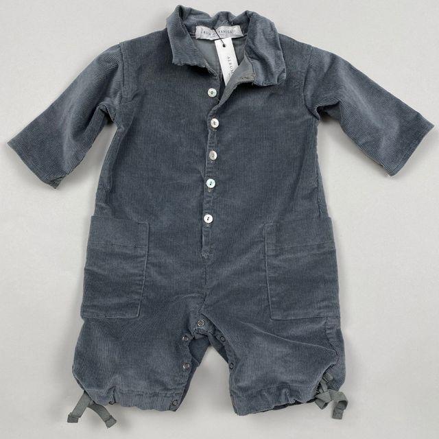 Ribbed Velvet Baby Collar Jumpsuit