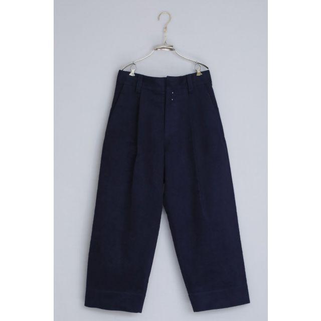 Moleskin Cotton Trousers Paul Dark Navy by Ecole de Curiosites