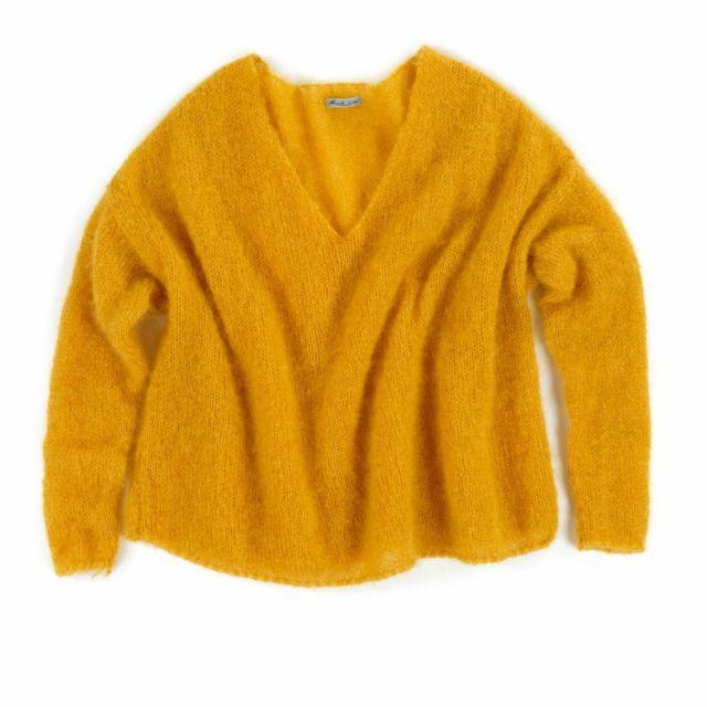 Oversized Woolen Pullover Chocho Orange by Manuelle Guibal