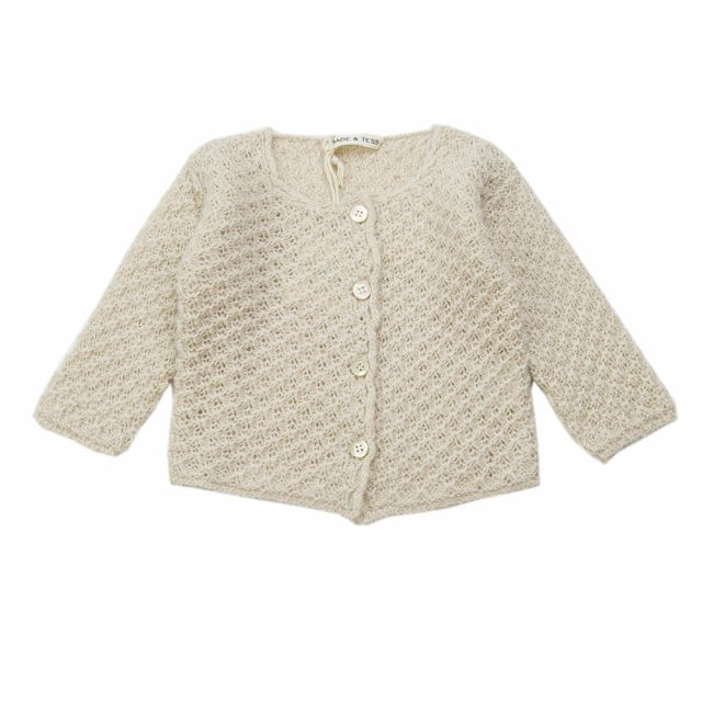 Woolen Baby Knitted Cardigan Natural