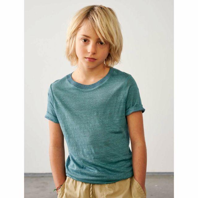 Linen T-Shirt Mogo Blue Eyes by Bellerose