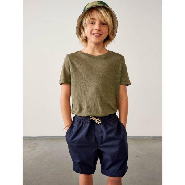 Linen T-Shirt Mogo Dusty Olive by Bellerose