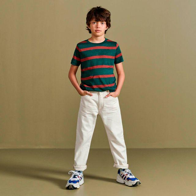 Linen T-Shirt Mogo Red Stripes by Bellerose