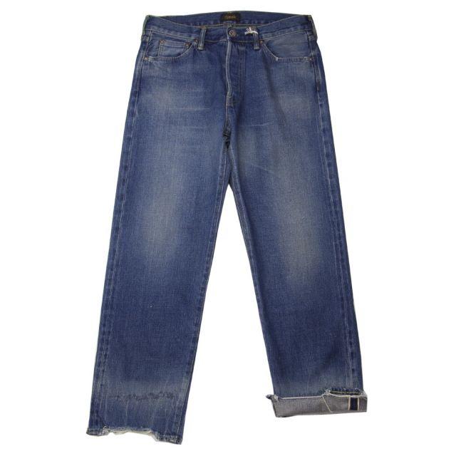 Used Denim Ankle Cut Jeans Vintage Dark by Chimala