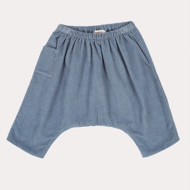 Baby Cord Trousers Crow Steel Blue