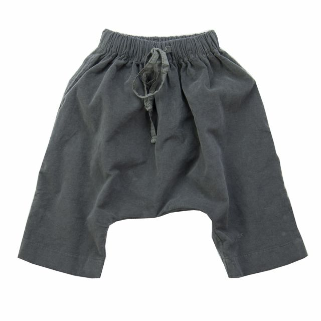 Velvet Baggy Baby Trousers Maryann Dark Grey