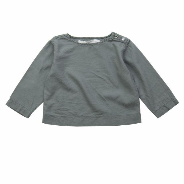 Soft Canvas Baby Shirt Marius Grey