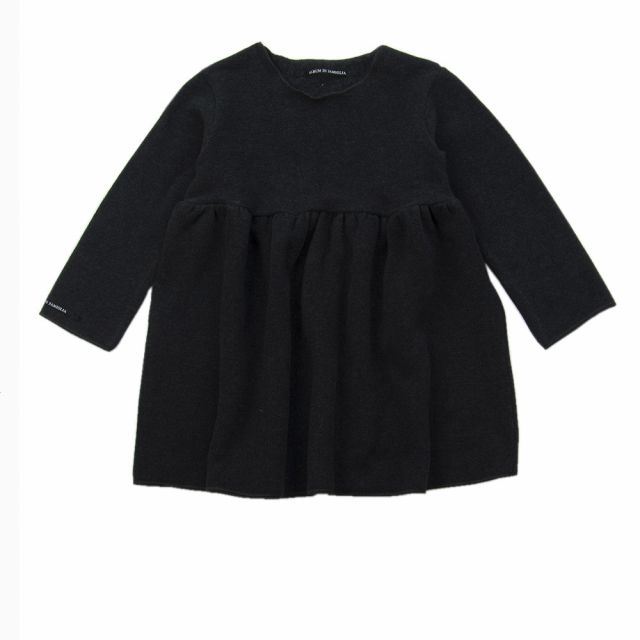 Soft Jersey Baby Dress Norry Almost Black by Album di Famiglia