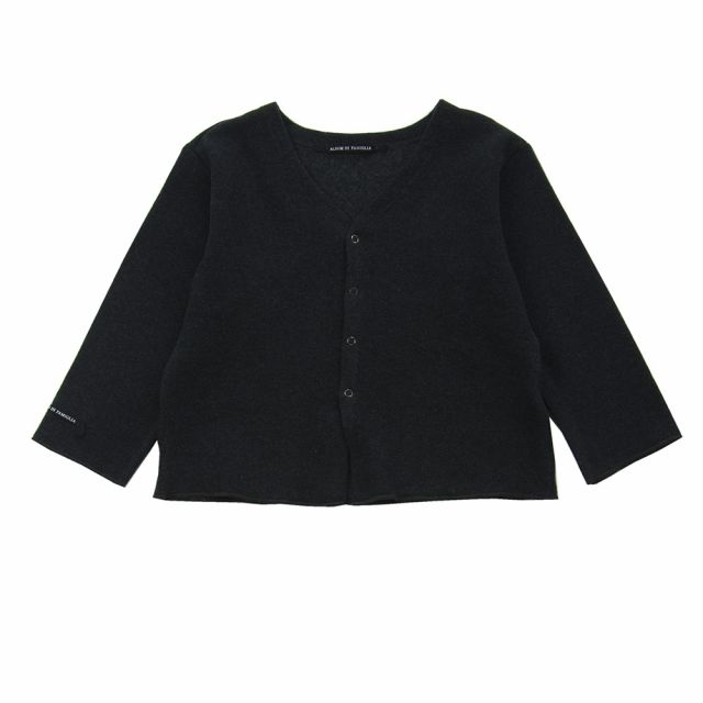 Soft Jersey Baby Cardigan Connie Almost Black