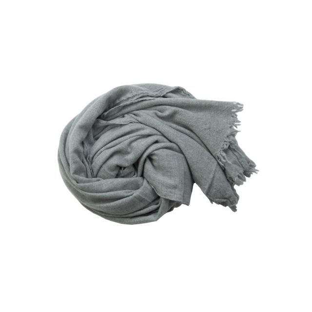Handwashed Cashmere Vintage Scarf Sim Grey by Private0204