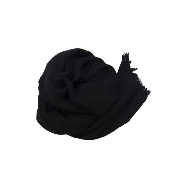 Handwashed Slow Cashmere Scarf Bask Black by Private0204