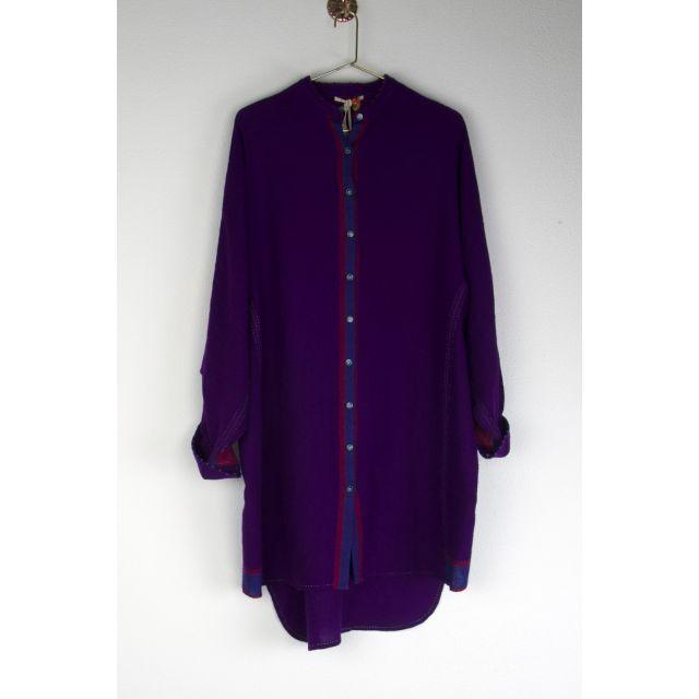 Long Wool Shirt Purple by Pero