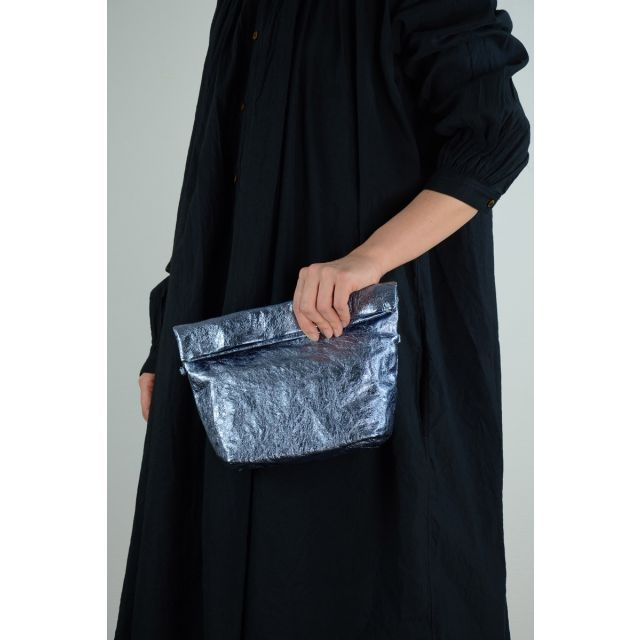 Metallic Leather Shoulder Bag Light Blue by Zilla