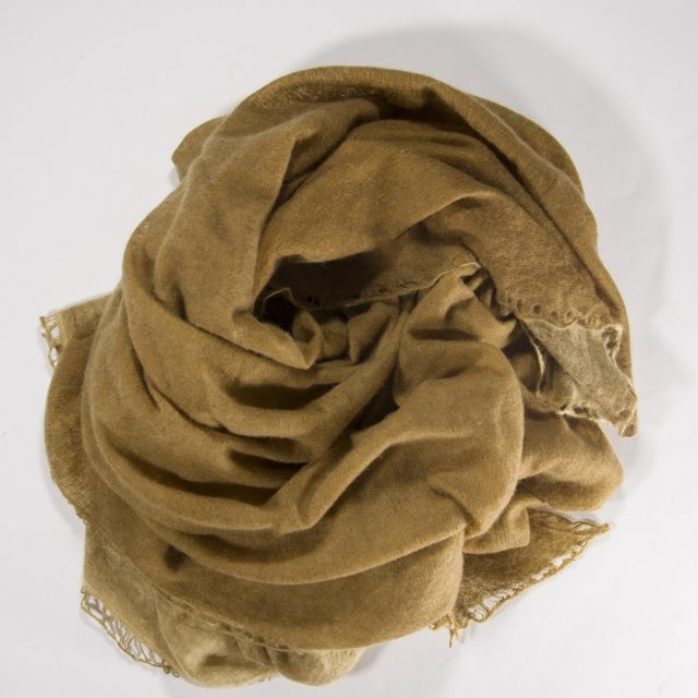 Cashmere Scarf Nomad Flat Dye Mustard by Warm-Me