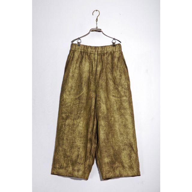 Linen Trousers Pierre Brass by Ecole de Curiosites