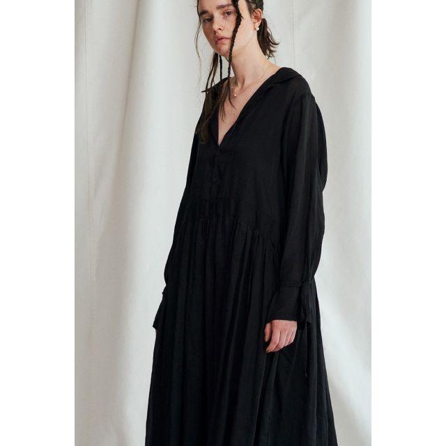 Shirt Dress Black by Vlas Blomme