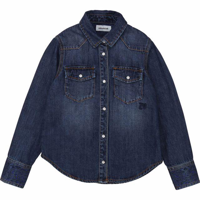 Jean Shirt Rea Dark Blue